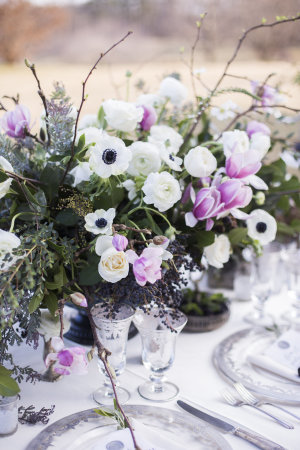 Anemone and Branch Centerpiece