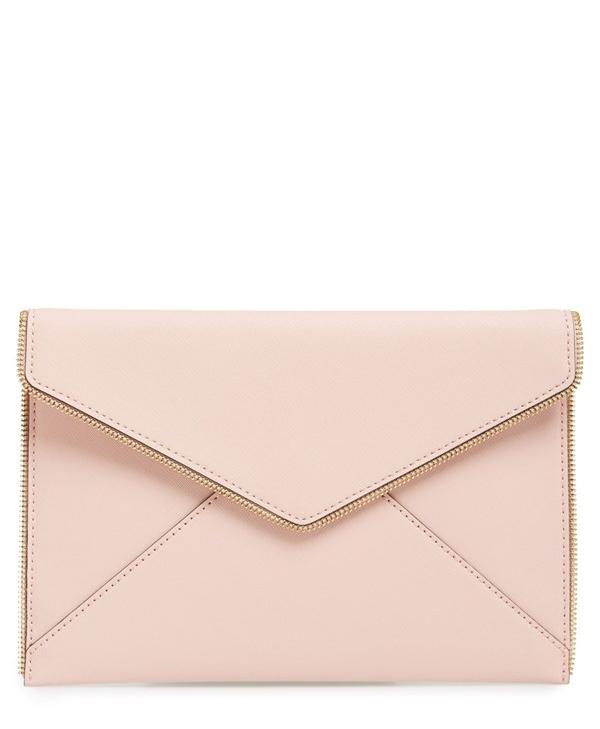 Blush Envelope Clutch