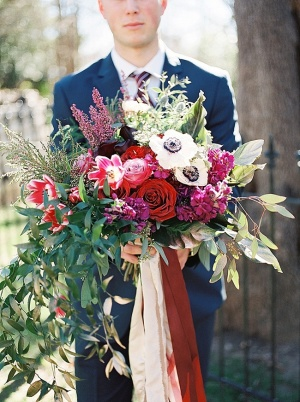 Bouquet of Fuchsia and Berry