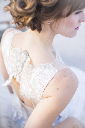 Bride in Claire Pettibone