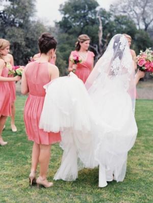 Bride in Enzoani Dress