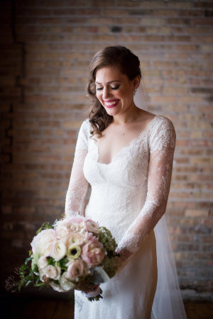 Bride in Gown with Sleeves