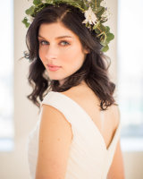 Bride in Greenery Crown
