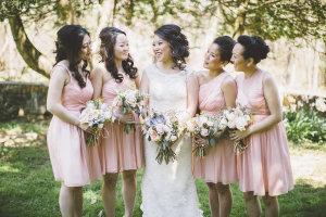 Bridesmaids in Pink J Crew