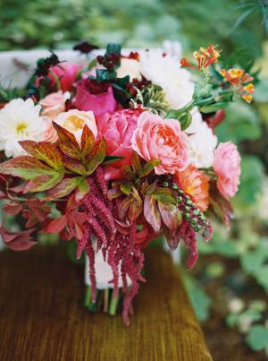 Burgundy Fall Bouquet