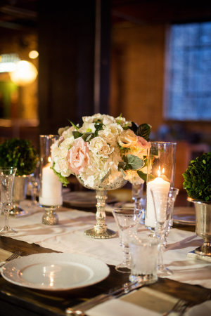 Centerpiece of Ivory and Blush