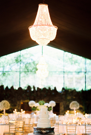 Chandelier in Wedding Tent