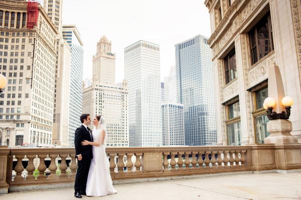 Chicago River Wedding Portrait