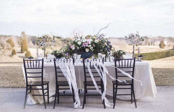 Dark Purple Wedding Table
