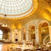 Elegant Gold Ballroom Wedding