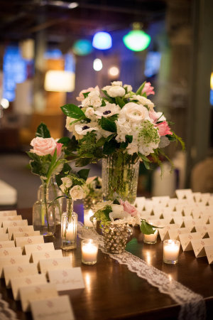 Escort Card Table with Lace