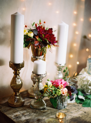 Fall Wedding Flowers and Candles