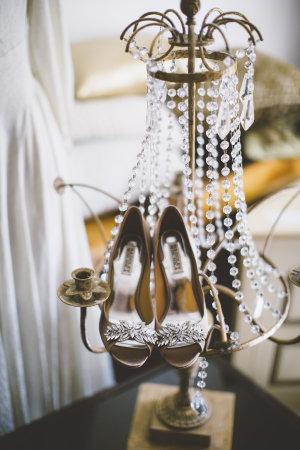 Gold Badgley Mischka Shoes