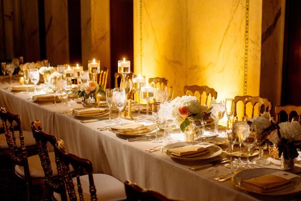 Gold Ballroom Wedding