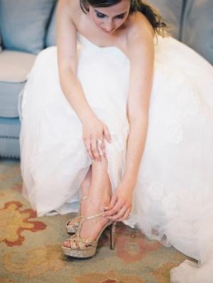 Gold Sparkle Wedding Shoes