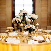 Gold and Ivory Escort Card Table