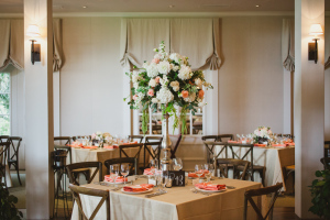 Gold and Peach Wedding