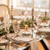 Gray and Green Wedding Table 1