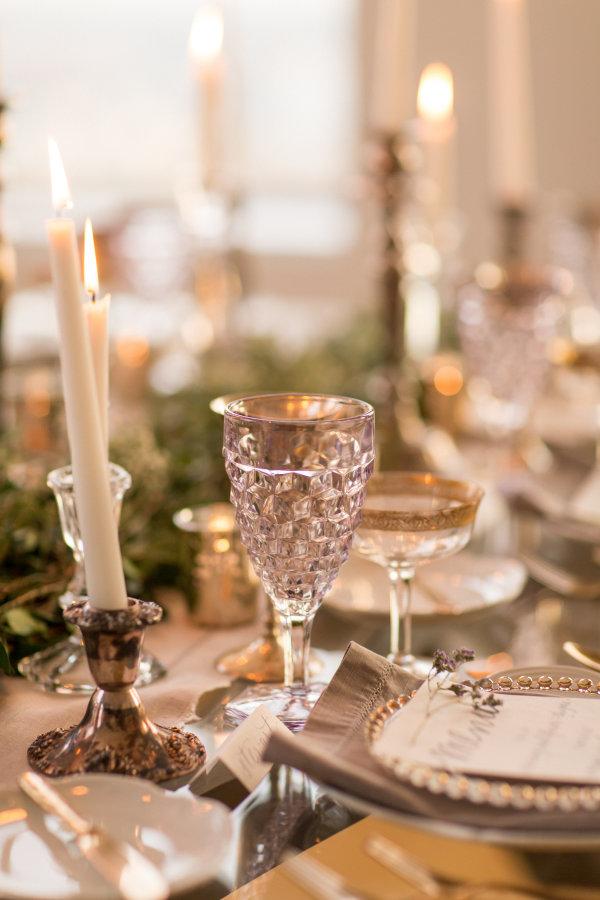 Gray and Green Wedding Table 10