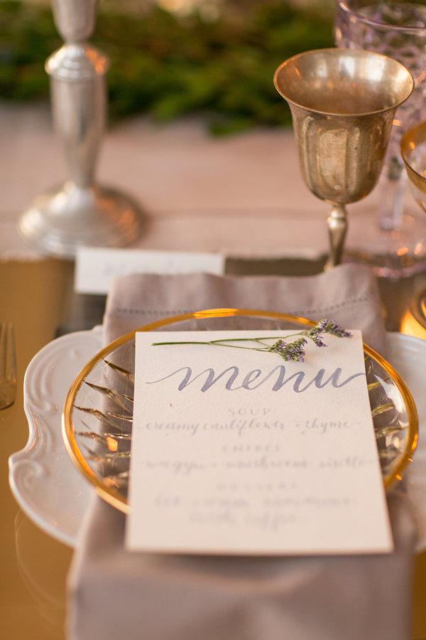 Gray and Green Wedding Table 11