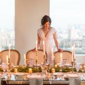 Gray and Green Wedding Table 13