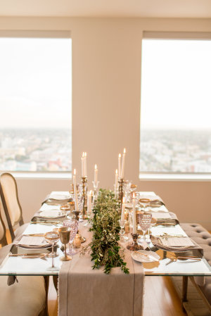 Gray and Green Wedding Table 2