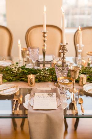 Gray and Green Wedding Table 4