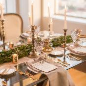 Gray and Green Wedding Table 6
