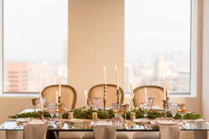 Gray and Green Wedding Table 7