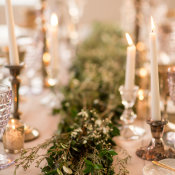 Gray and Green Wedding Table 9