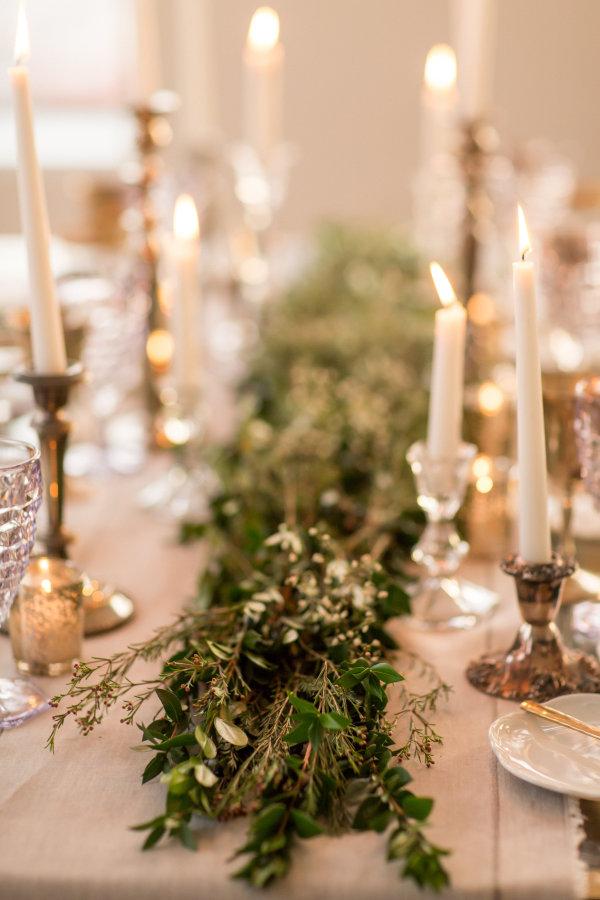 Gray and Green Wedding Table 9