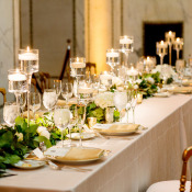 Greenery Garland and Candle Centerpiece