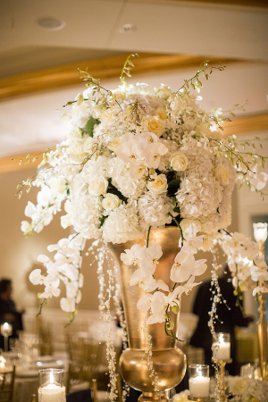 Orchid and Hydrangea Centerpiece