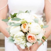Pale Peach and Ivory Bouquet