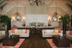 Peach Wedding Lounge Area