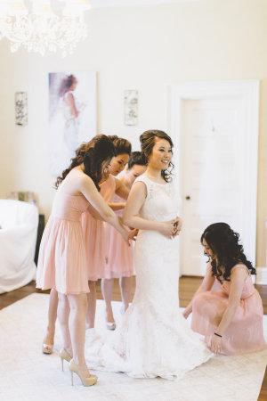 Pink J Crew Bridesmaids