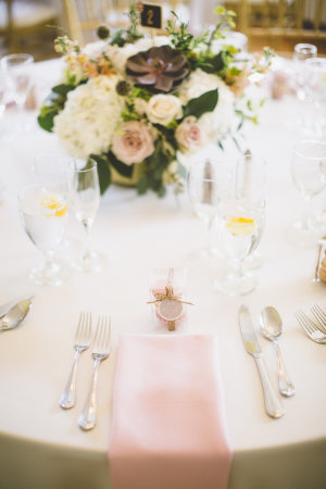 Pink and Mauve Wedding Table
