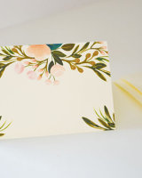 Place Cards Blush Floral Gold Accents