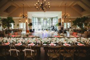Reception with Farmhouse Tables