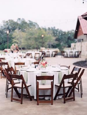 Rustic Romantic Wedding Reception