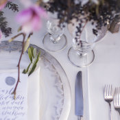 Silver and Purple Wedding Inspiration