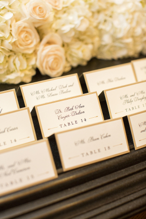 Simple Tented Wedding Escort Cards