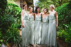 Sparkle Mint Bridesmaids Dresses