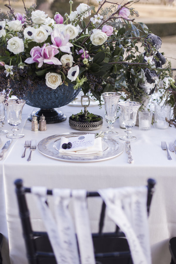 Tabletop in Purple and White