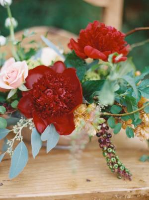 Vivid Red Wedding Flowers