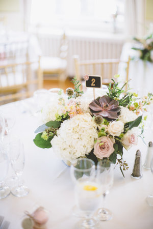 Wedding Centerpiece with Succulents