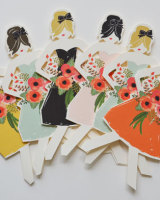 Wedding Paper Doll Cards