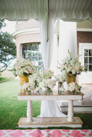 White Cluster Ceremony Flowers