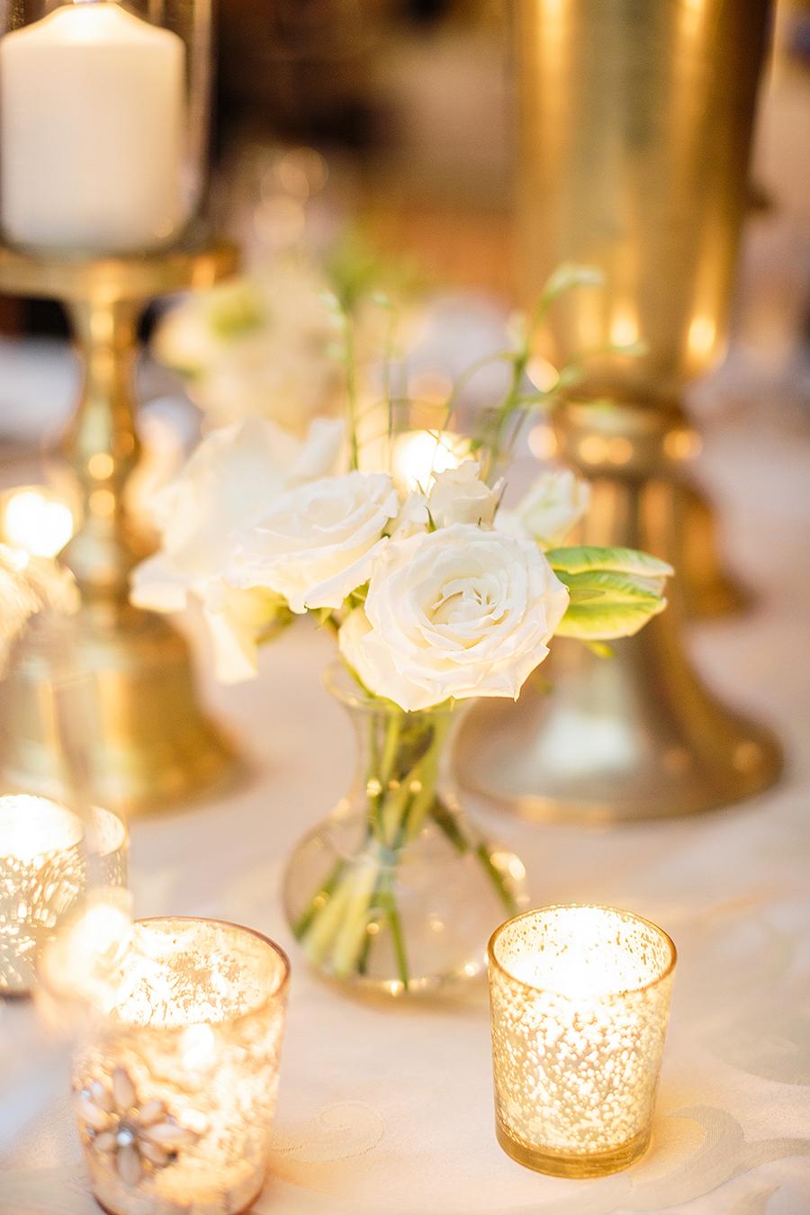 White Flowers In Bud Vases Elizabeth Anne Designs The Wedding Blog