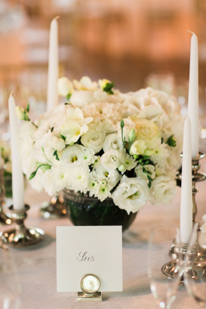 White Flowers with Taper Candles
